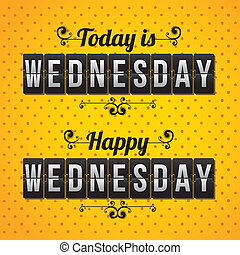 days counter indicating wednesday over dotted background vector illustration