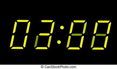 Digital clock timelapse