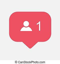 Counter, friend request quantity follower notification ...