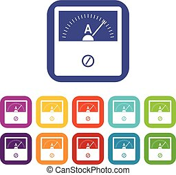 Counter icons set vector illustration in flat style In colors red, blue, green and other