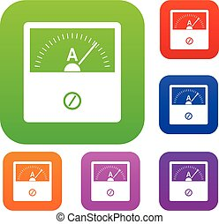 Counter set icon color in flat style isolated on white. Collection sings vector illustration