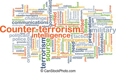 Counter-terrorism background concept - Background concept...