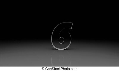 Counter with all numbersfrom 10 to 0, countdown, 3d render background, computer generating backdrop