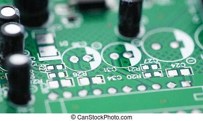 counterclockwise, objazd, radio, drukowany, komponenty, ...