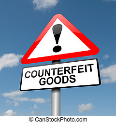 Counterfeit goods concept. - Illustration depicting a road...