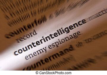 counterintelligence, -, ordbok, definition