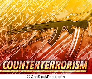 Counterterrorism Abstract concept digital illustration