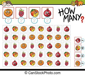 counting activity with fruits