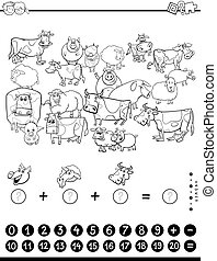 counting and adding game coloring book