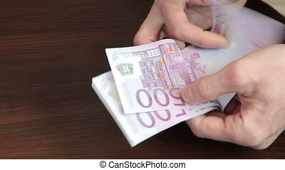Counting Cash Money  Euro