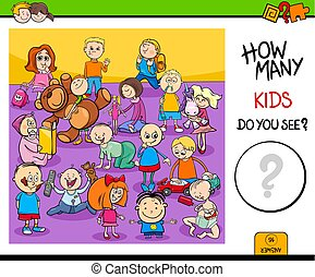 counting children characters educational game