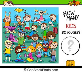 counting children characters educational task