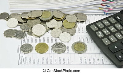 Counting coins on finance account a