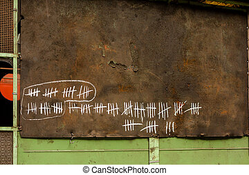 Counting days on blackboard