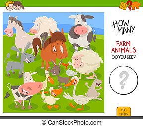 counting farm animals educational game