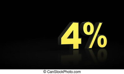 Counting from zero 0 to fifteen 15 % percent 3D animation