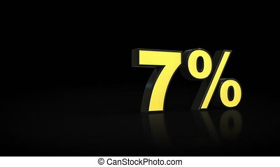 Counting from zero 0 to forty-one 41 % percent 3D animation...