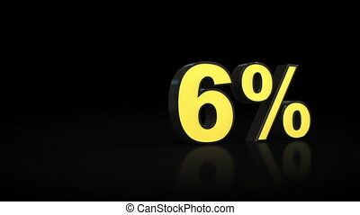 Counting from zero 0 to twenty-nine 29 % percent 3D...