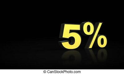 Counting from zero 0 to twenty-three 23 % percent 3D...