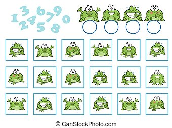 Counting Game for Preschool Children. Educational a mathematical game
