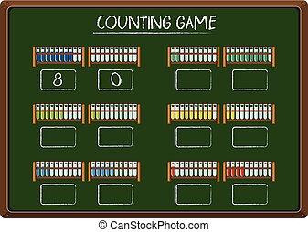 Counting game on blackboard