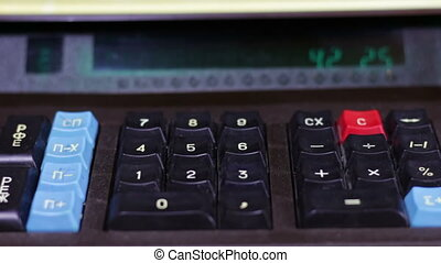 Counting Money On a Retro Calculator