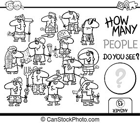 counting people coloring book