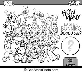 counting task coloring book - Black and White Cartoon...