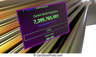 Counting world population - animation-Counting world...