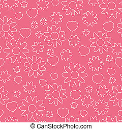 Countoured floral pattern