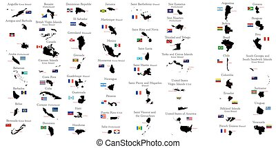 Countries of North and South Ameri