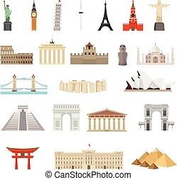 Countries of the world vector logo design template....