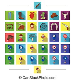Country, attributes, signs and other web icon in cartoon style. Parking, cars, nationality icons in set collection.