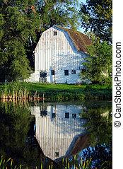 country barn on farm
