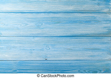 Country blue wooden table background