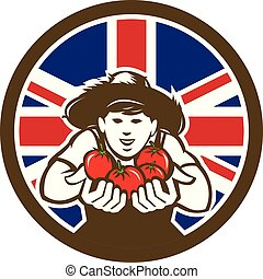 country-boy-hat-hand-tomato_CIRC_UK-FLAG-ICON - Icon retro...