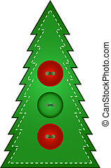 Country Christmas Tree - Buttons