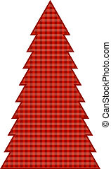 Country Christmas Tree decorated in a Gingham print