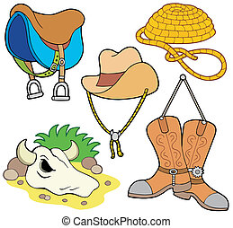 Country collection 1 on white background - vector illustration.