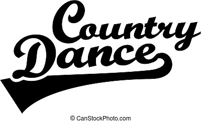Country dance retro font