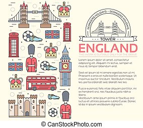Country England travel vacation guide of goods, places in...