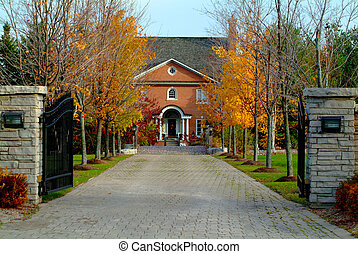Country Estate - A long driveway to a beautiful country...