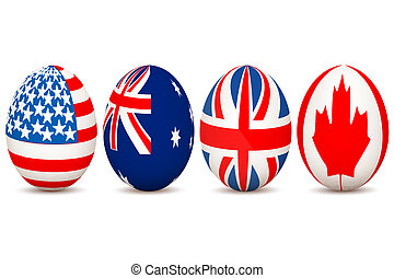 country flags on egg