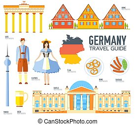 Country Germany travel vacation guide of goods, places and...