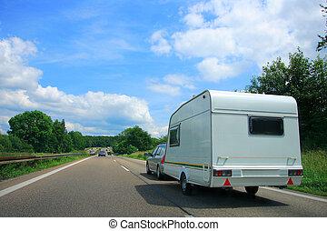 Country Highway - Caravan Country Highway in France