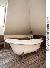 Country home - original bath - Country home - vintage, ...
