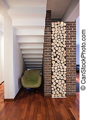 Country home - place for wood