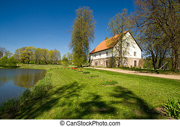 Country house at the lake