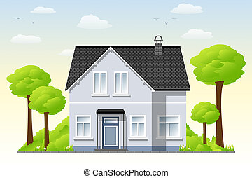 Country House Stock Illustrationby