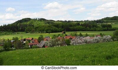 country idyll with village